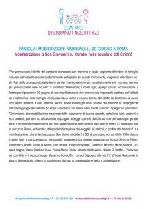 #Manifestazione #Roma #DDLCirinnà #gender #20giugno2015